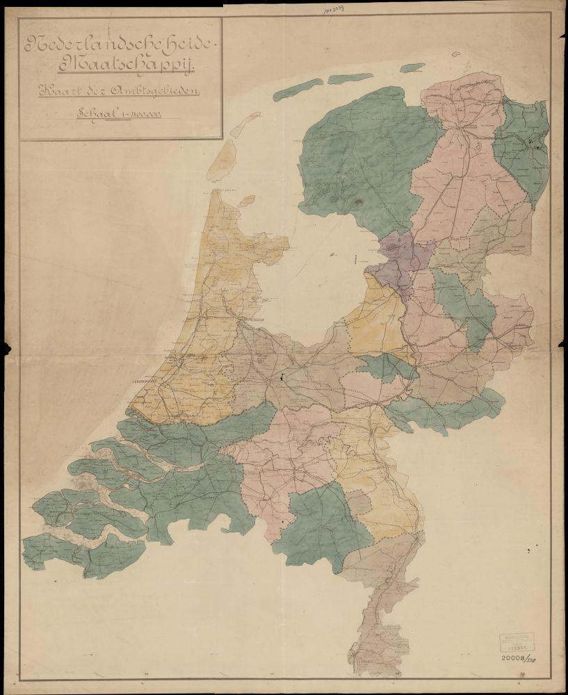 Landkaart van de Nederlandse Heidemaatschappij