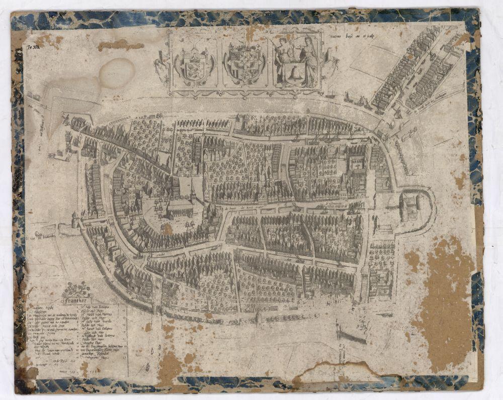 Plattegrond van Franeker door Pieter Bast