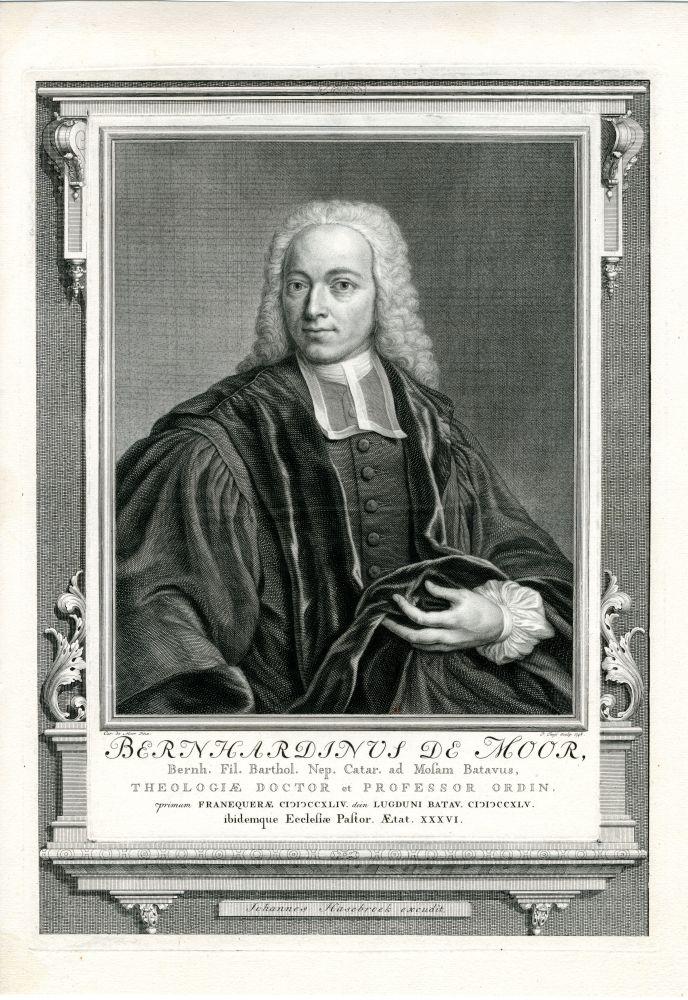 Gravure van Bernhardius de Moor door P. Tanje