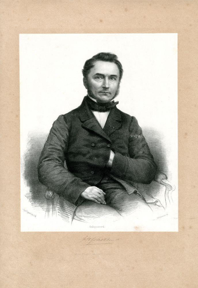 Portret van J. H. Scholten