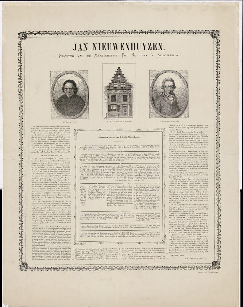 iPortret van Jan Nieuwenhuyzen door A.A. Vosterman-van Oyen