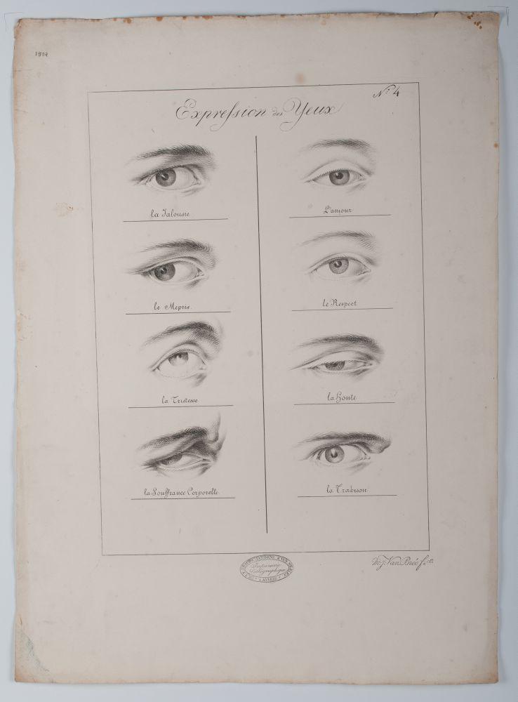 Tekenvoorbeeld met de titel 'Expression des yeux'
