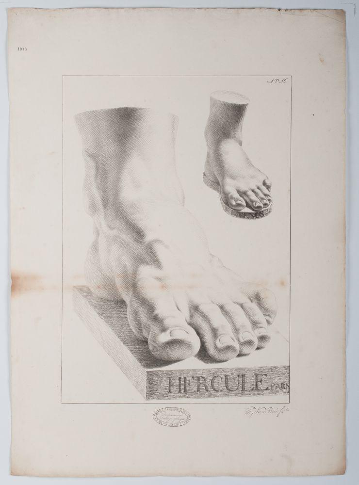 Tekenvoorbeeld van twee voeten