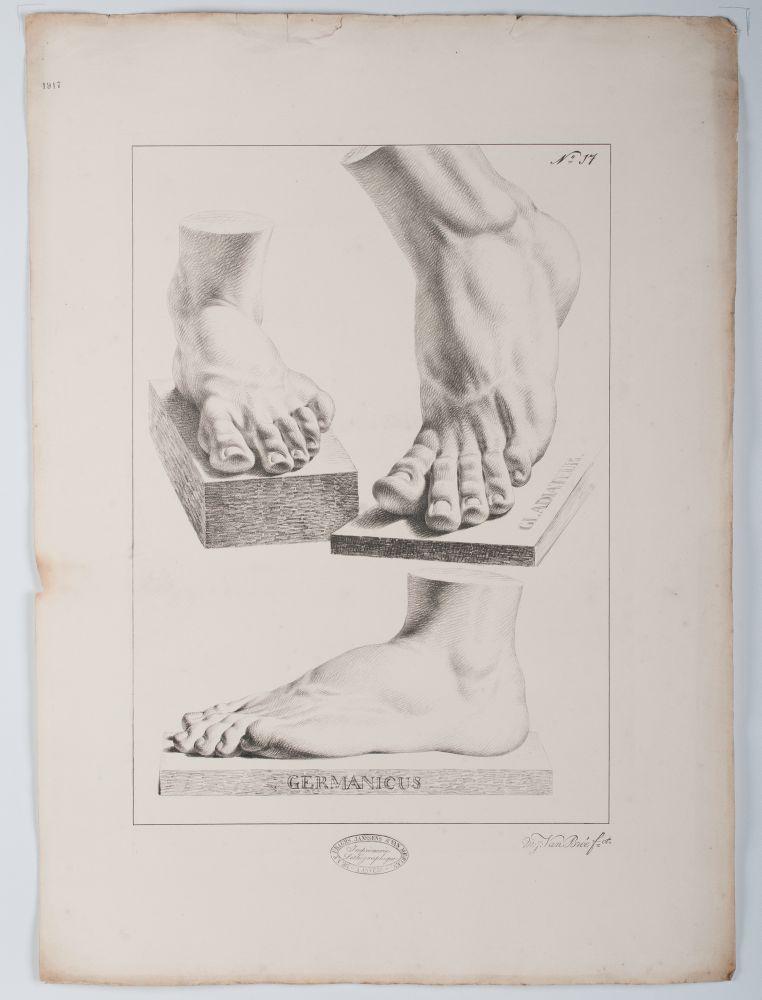 Tekenvoorbeeld van drie voeten