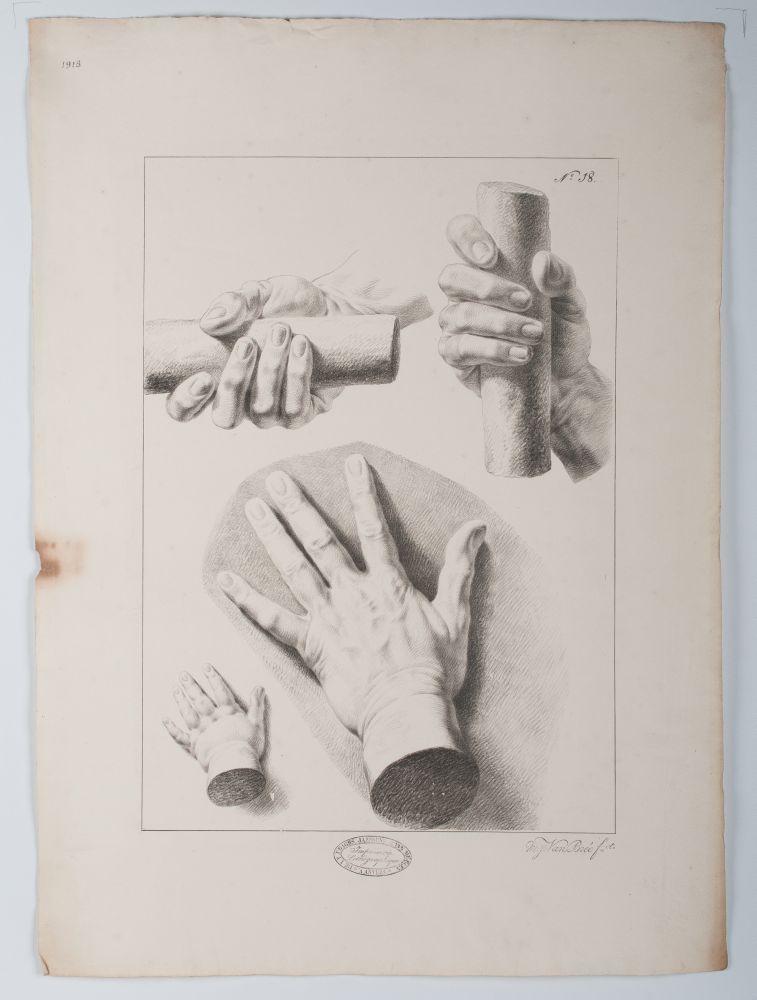 Tekenvoorbeeld van verschillende handen