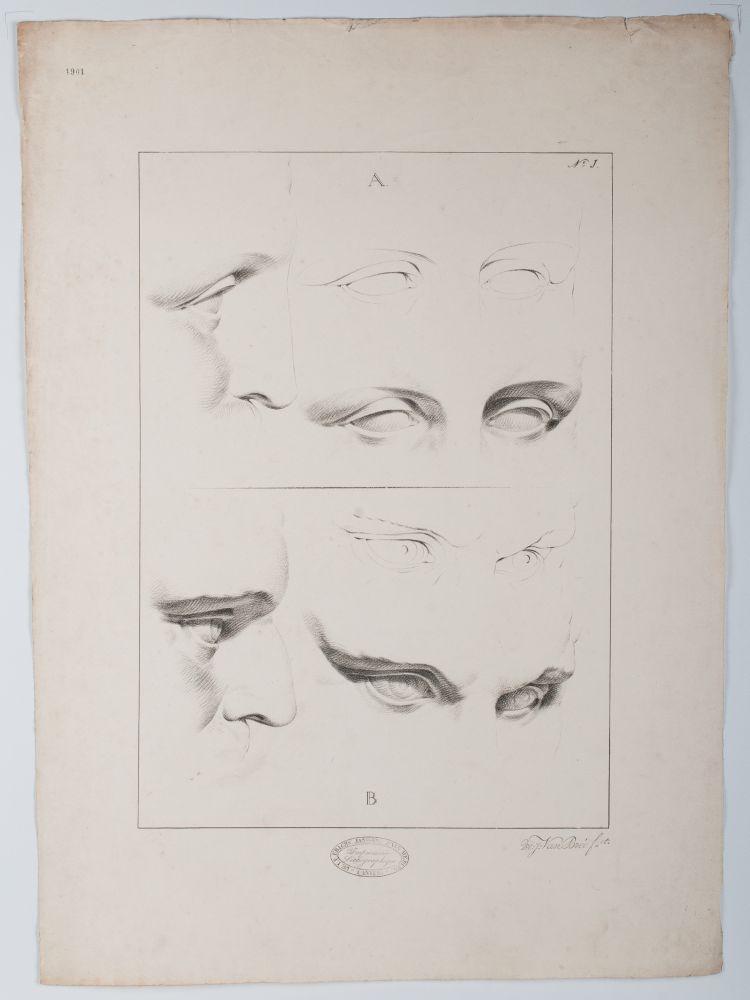 Tekenvoorbeeld van verschillende ogen en wenkbrauwen