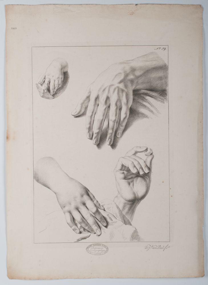 Tekenvoorbeeld van handen