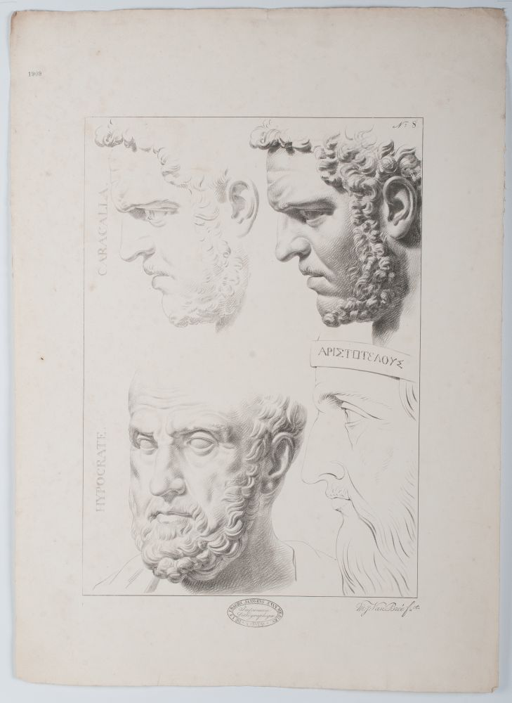 Tekenvoorbeeld van drie mannenkoppen