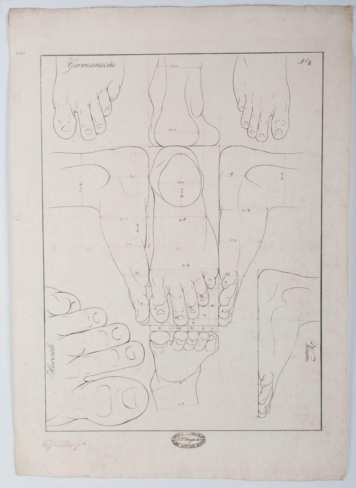 Tekenvoorbeeld van voeten