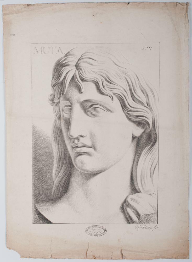 Tekenvoorbeeld van een buste van Muta