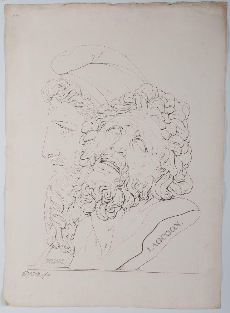 Tekenvoorbeeld van Priam en Loacoon