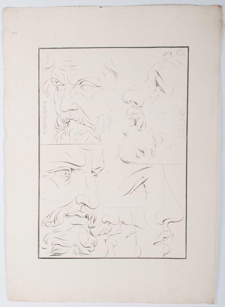 Tekenvoorbeeld van mannengezichten
