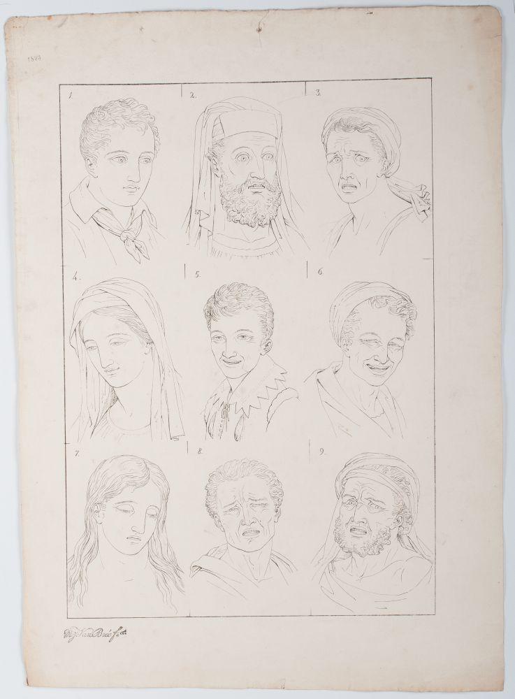 Tekenvoorbeeld van verschillende mannen- en vrouwenkoppen