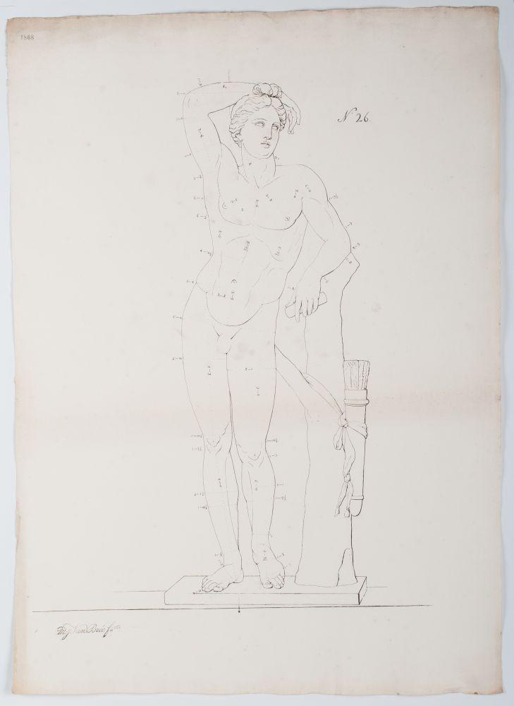 Tekenvoorbeeld van een mannenlichaam
