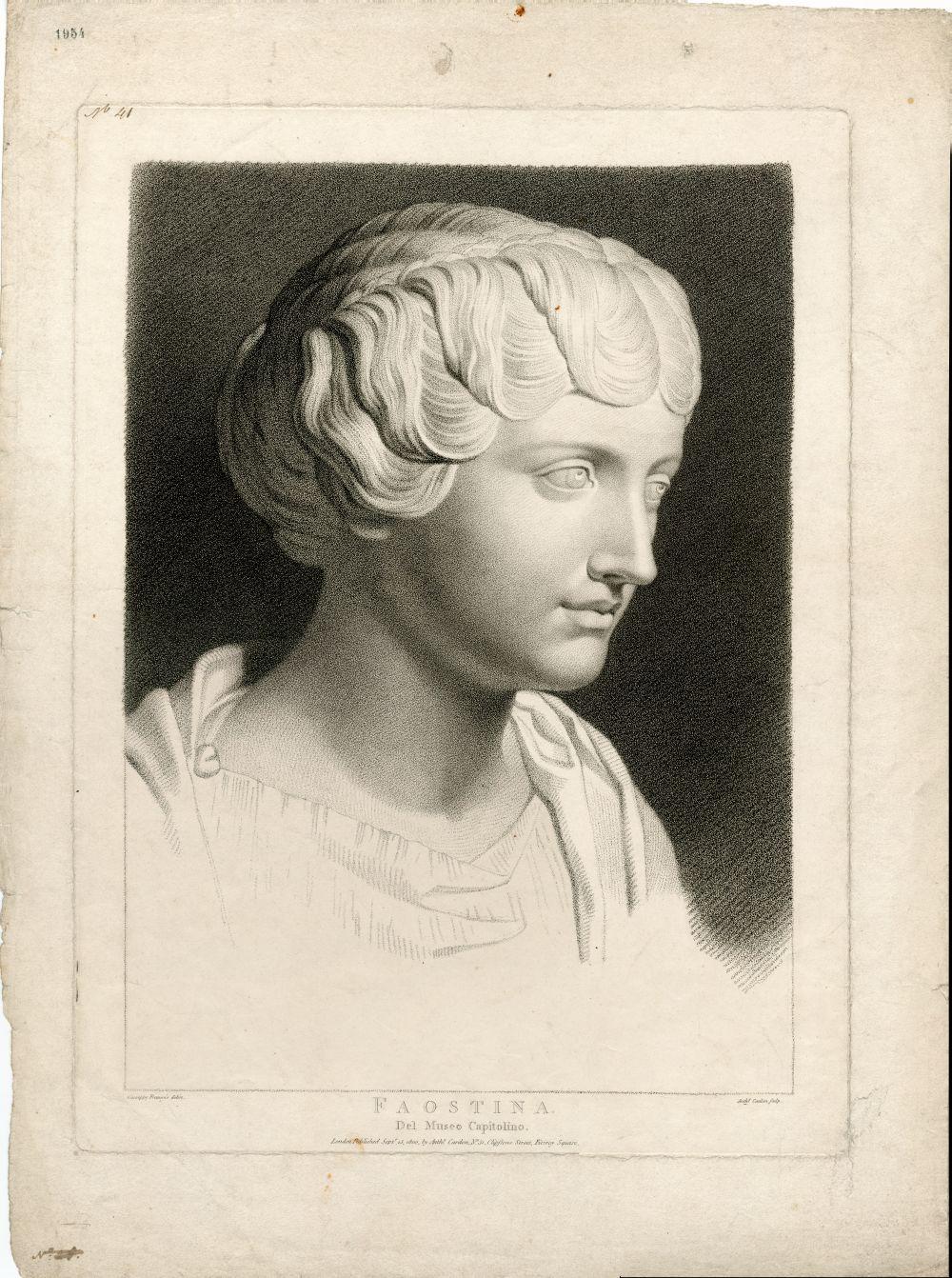 Tekenvoorbeeld van de buste Faostina