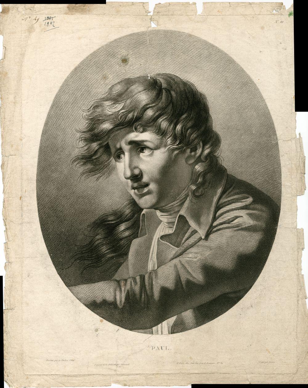 Tekenvoorbeeld van een mannenkop met wild haar