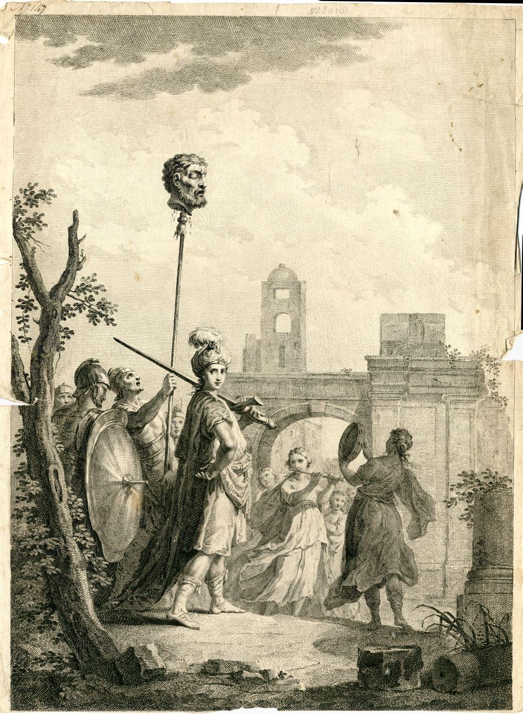 Tekenvoorbeeld met een historische voorstelling