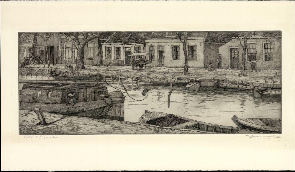 Ets van het Vliet in Franeker door Johan Hemkes