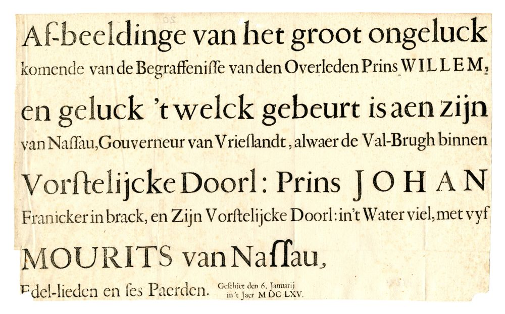 Rijmprent uit 1665