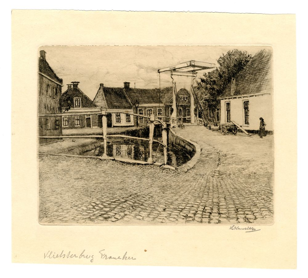 Ets van de Vlietsterbrug in Franeker