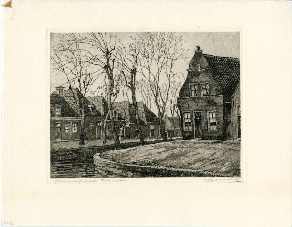 Ets van de Heerengracht in Franeker door Johan Hemkes
