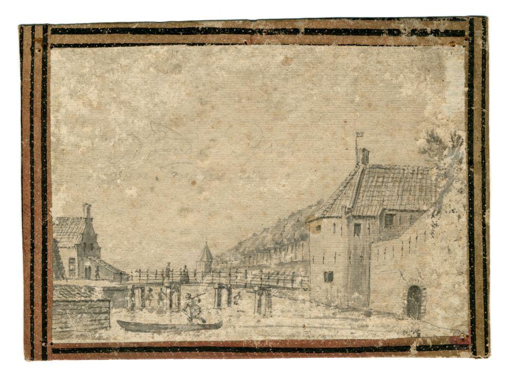 Tekening van de Oosterpoort