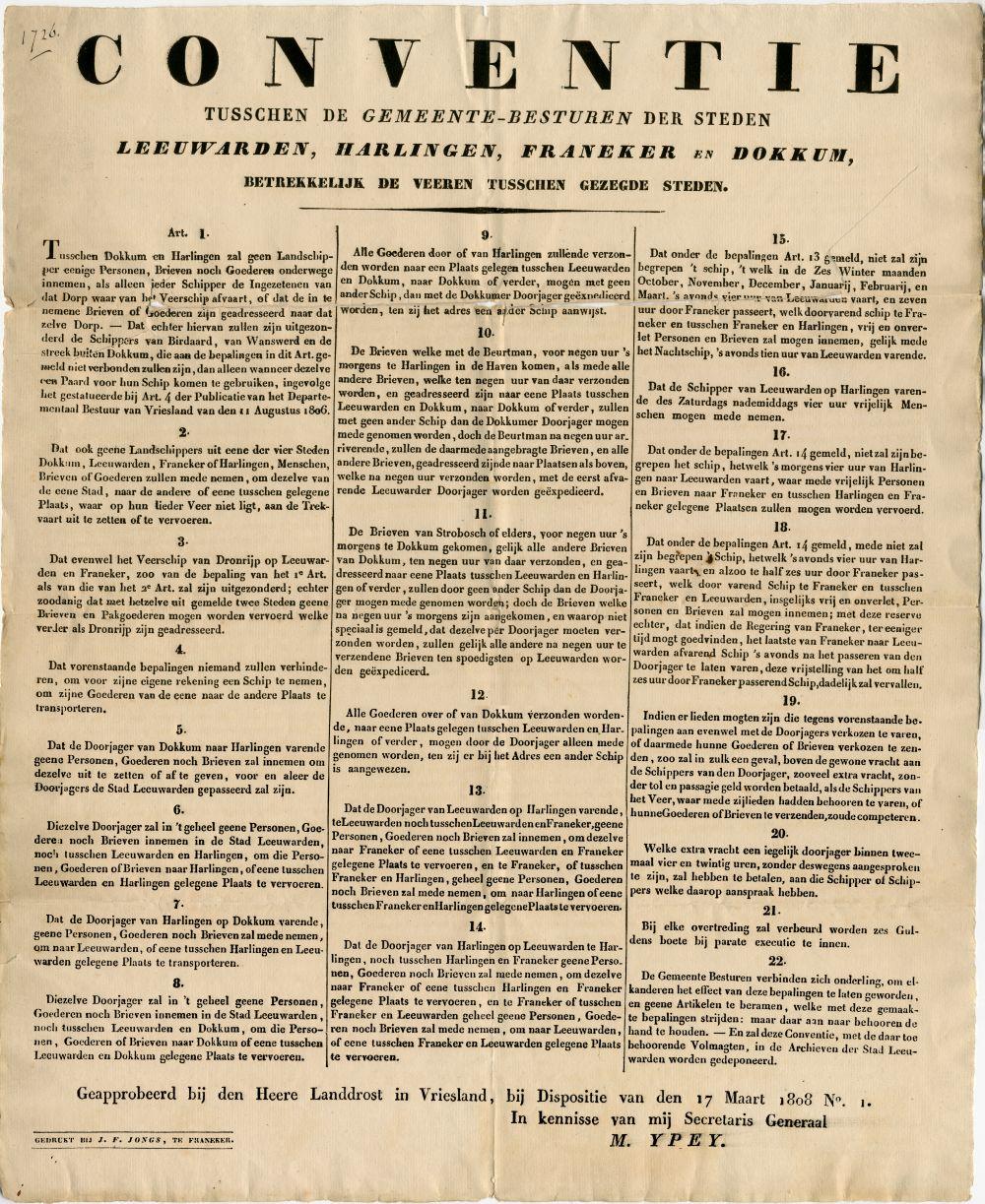 Document van een conventie tussen gemeentebesturen