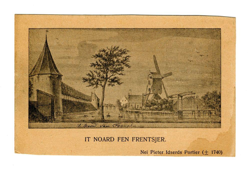 Foto van een tekening van Pieter Idserts Portier