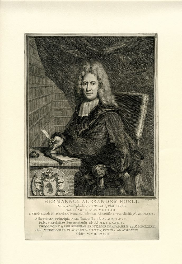 Portret van Hermanus Alexander Roëll door S. Wandelaar en J. Houbraken