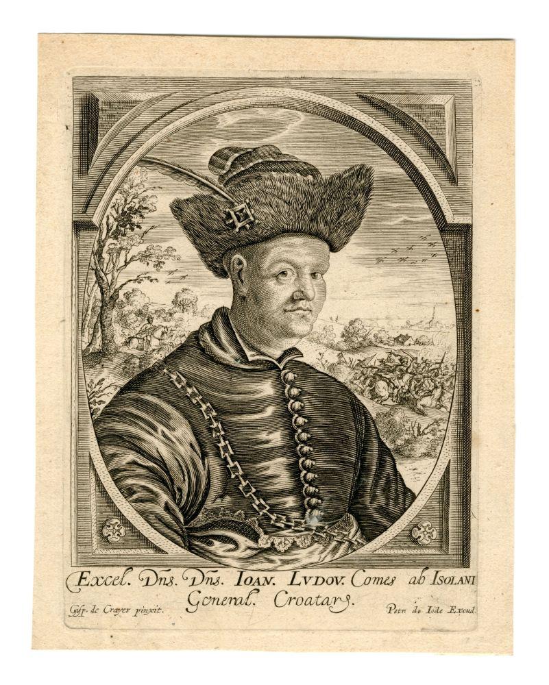 Portret van Johann Ludwig Hektor graaf van Isolani door Gaspar de Crayer