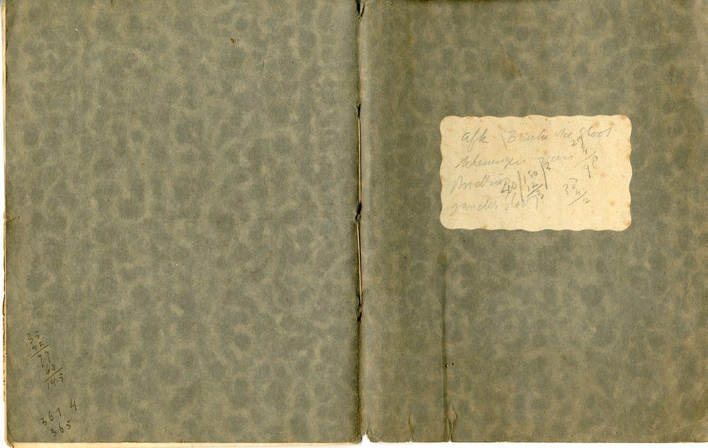 Schets- en plakboek van Andries van der Sloot