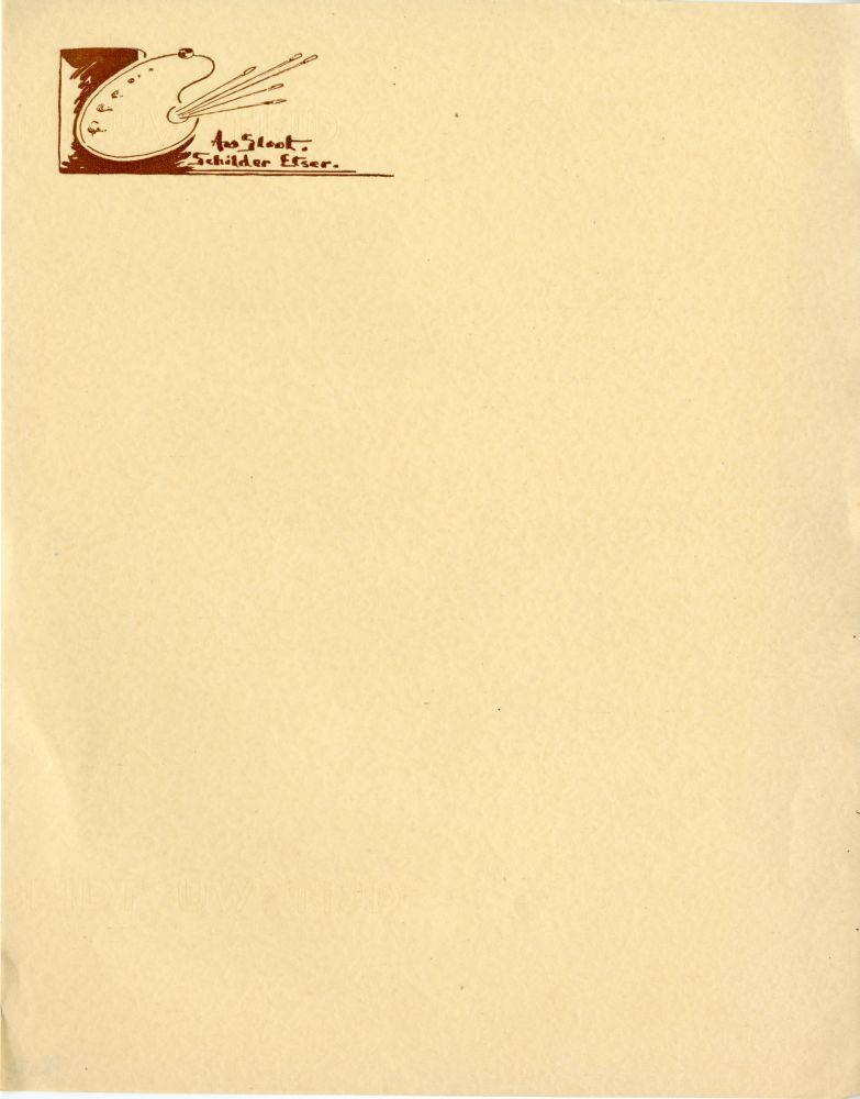Briefpapier van Andries van der Sloot
