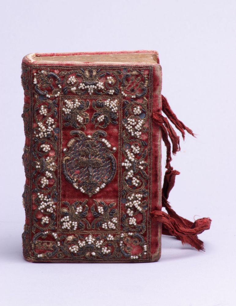 Geborduurde boekband, toegeschreven aan Anna Maria van Schurman