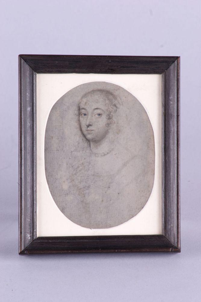 Vermoedelijk zelfportret van Anna Maria van Schurman in potlood
