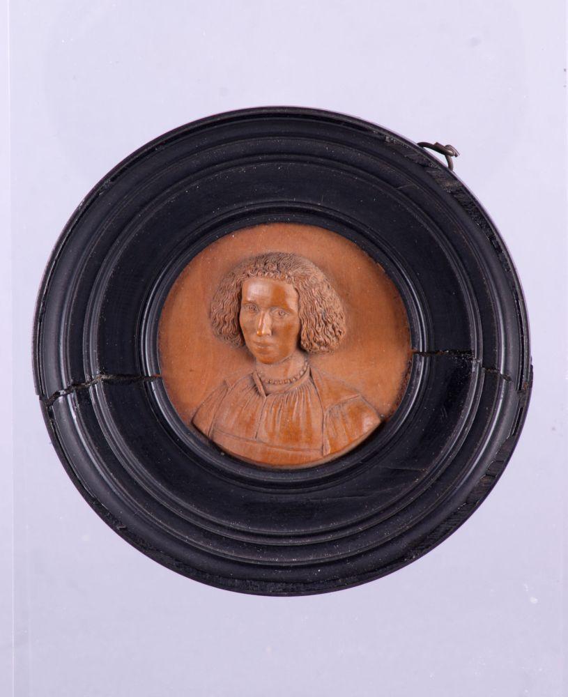 Portret van Eva von Harff in palmhout
