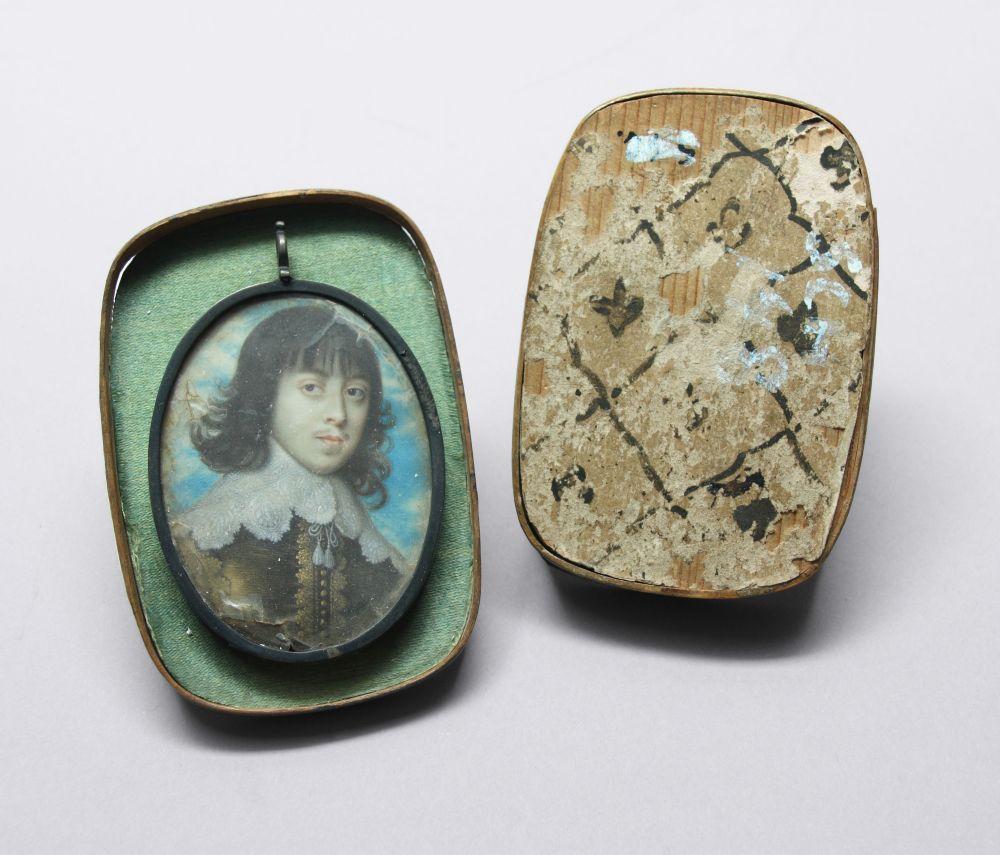 Portret in olieverf van een onbekende jongeman