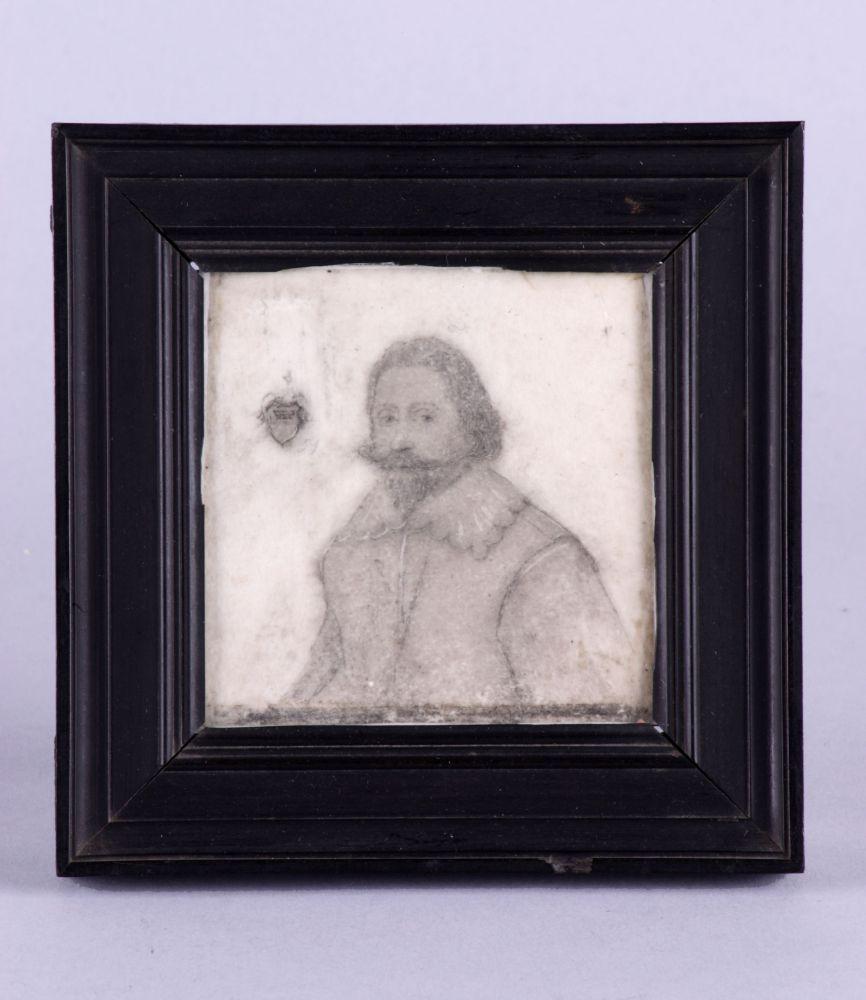 Portret in potlood van een onbekende man