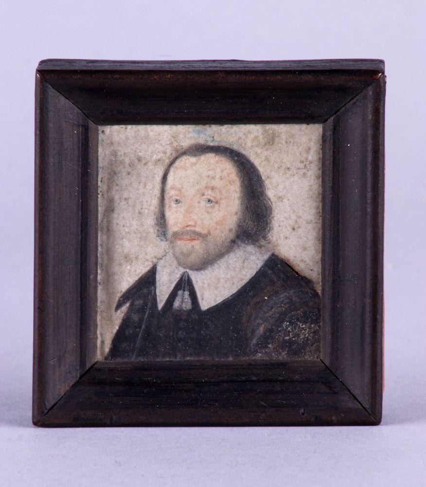Portret in gouache van Johan Gotschalk van Schurman