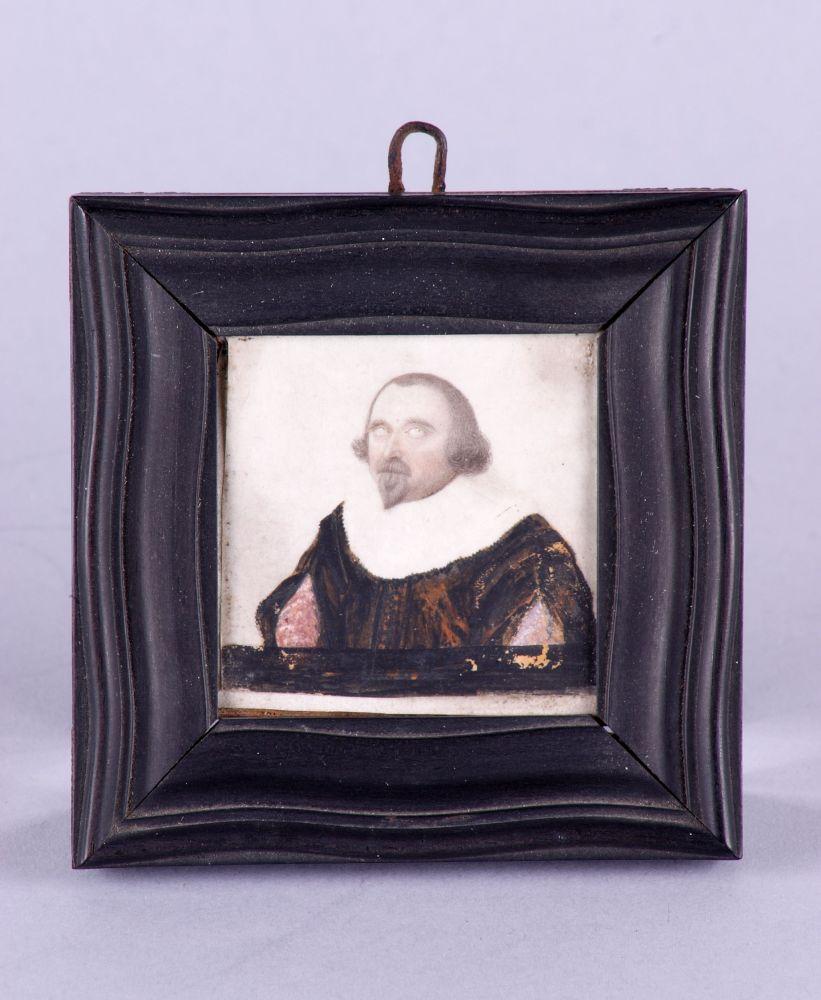 Portret in gouache van een man