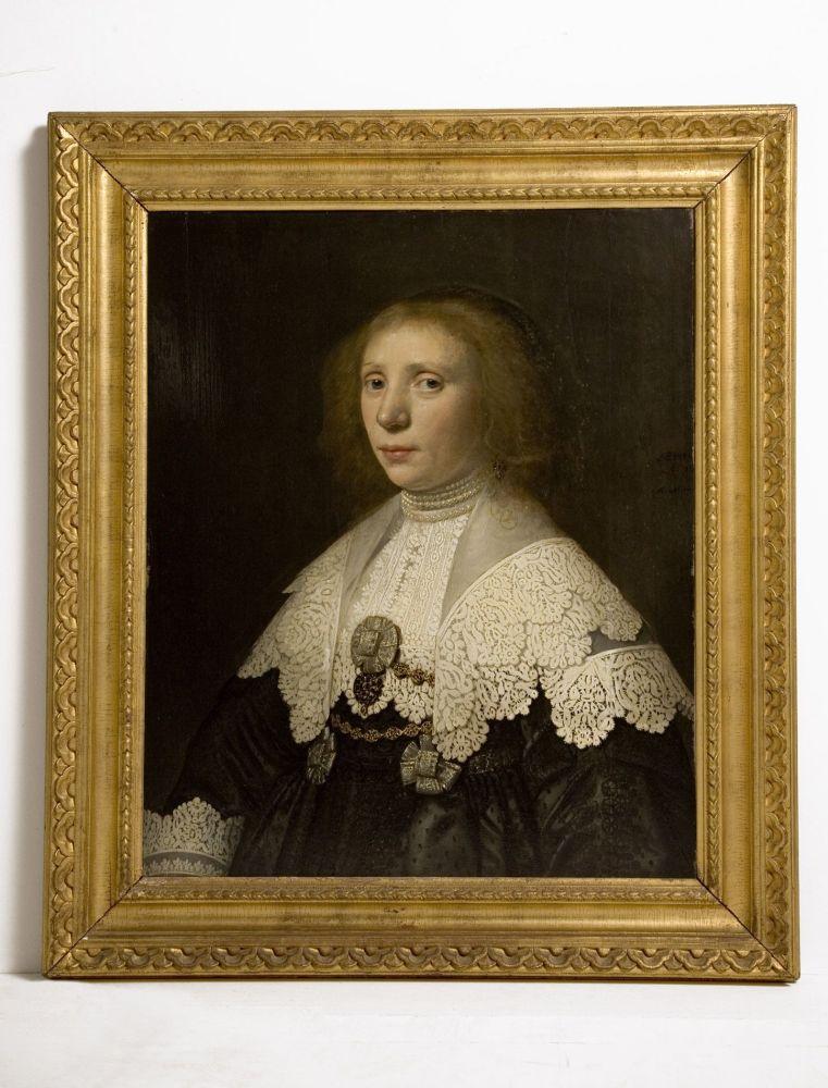 Portet in olieverf van Anna Maria van Schurman
