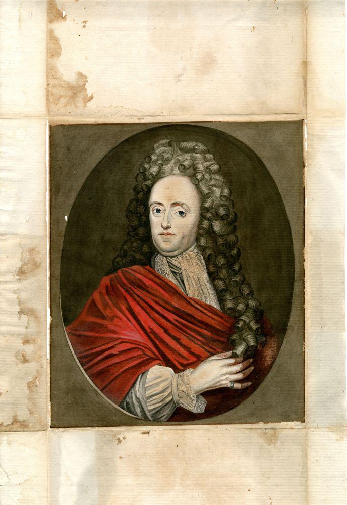 Mansportret in aquarel