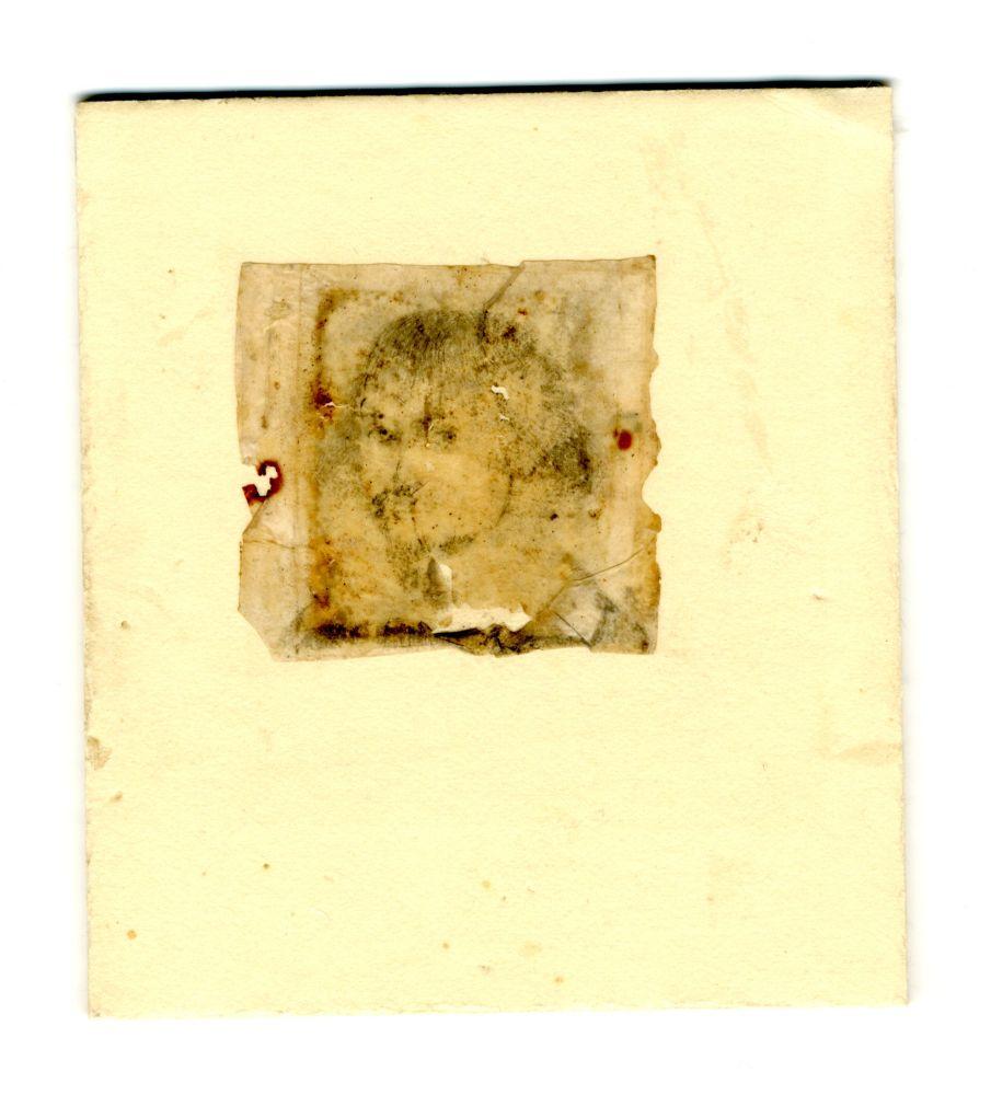 Portret in potlood van een onbekende jongeman
