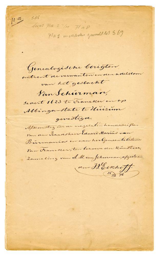 Convoluut documenten betreffende de familie Vna Schurman