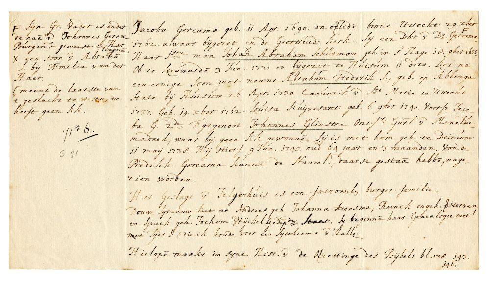 Genealogie van Jacoba van Schurman-Gercama