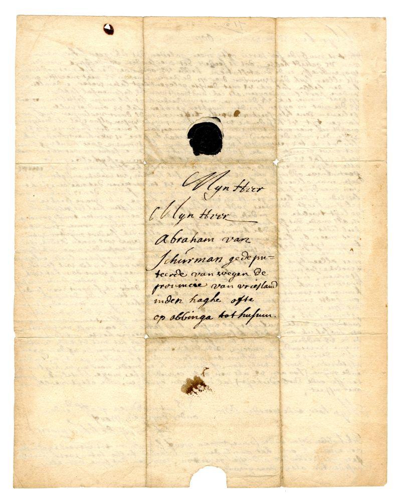 Brief van Henry van Schurman aan Abraham Frederik van Schurman