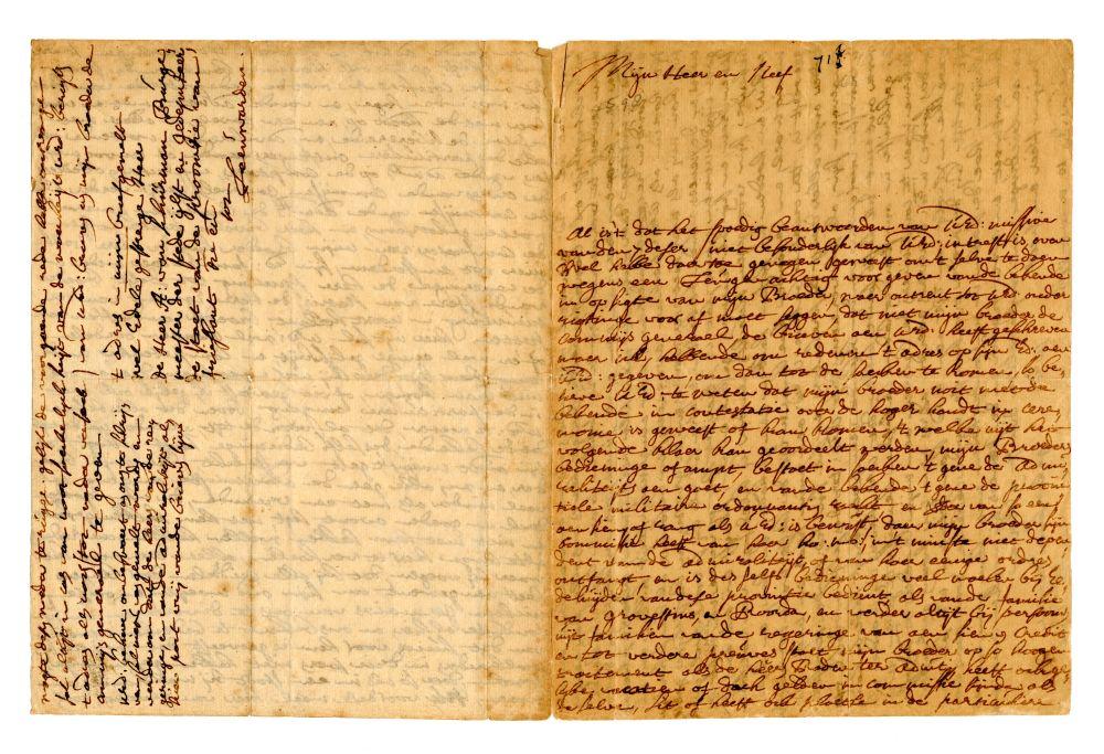 Brief uit 1716 van een lid van de familie Van Schurman