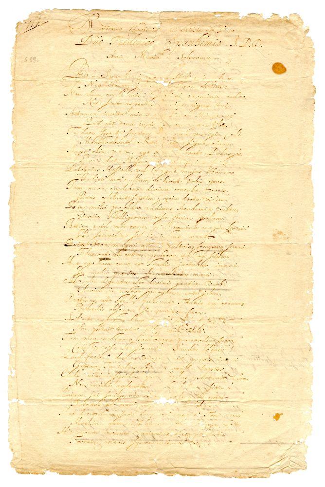 Latijns gedicht voor Frederik Spanheim