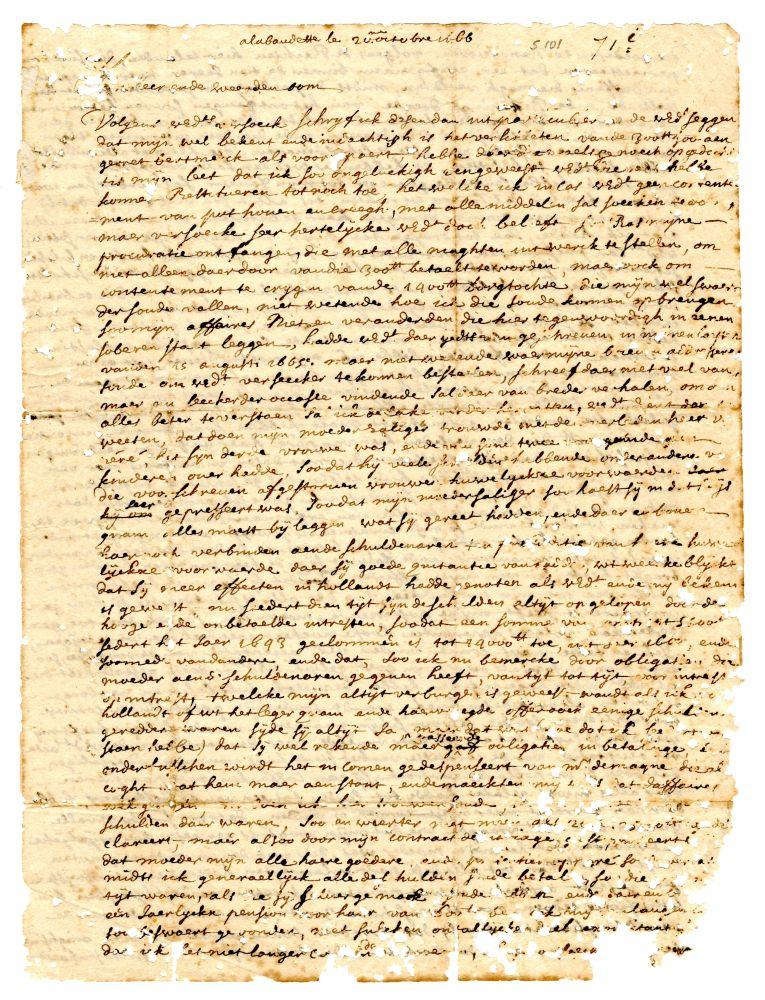Brieven van Henry van Schurman aan Anna Maria van Schurman en aan een oom.
