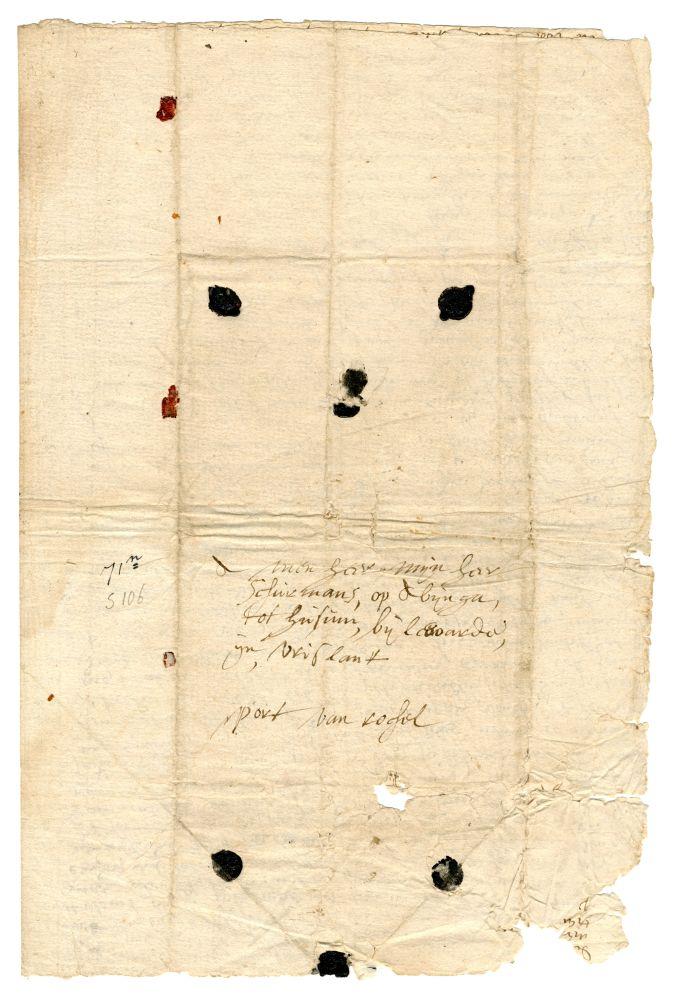 Brief van Johanna de la Cave aan Abraham van Schurman