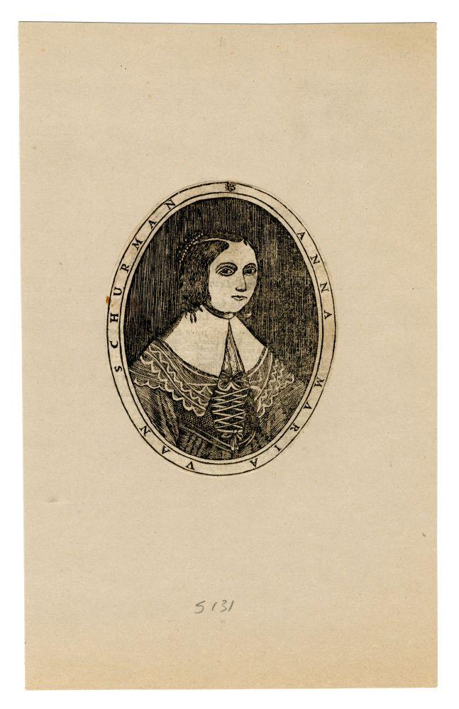 Portet in houtsnede van Anna Maria van Schurman